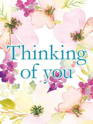 11 best thinking of you cards images on pinterest card birthday flowery thinking of you card flowers are a great way to send love and well m4hsunfo