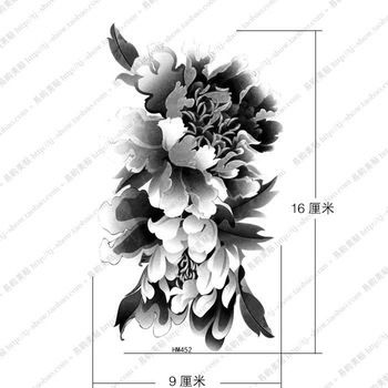 black and white flower tattoos - Google Search