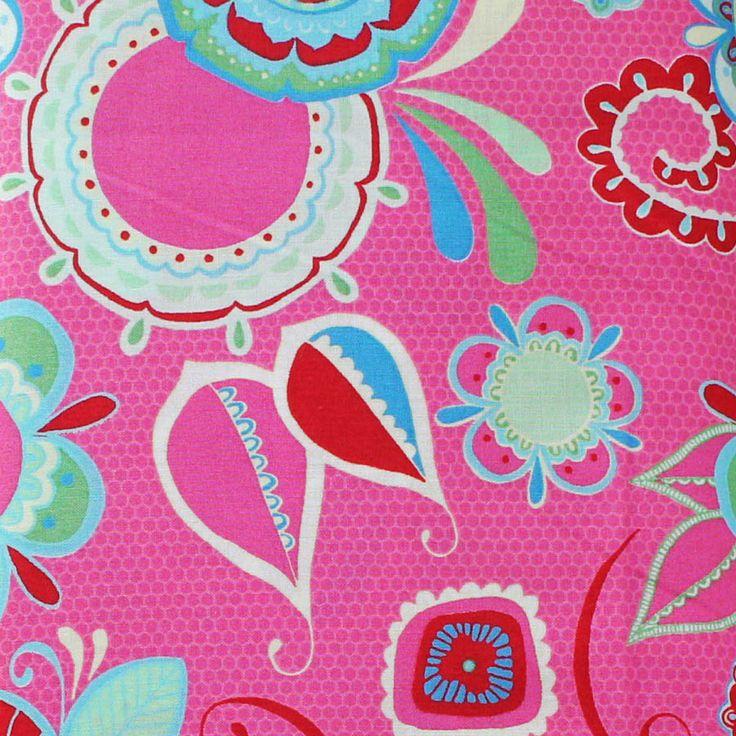 FLOWER CHILD DARK PINK - Flower Child – TUPPY'S AUSSIE FABRICS