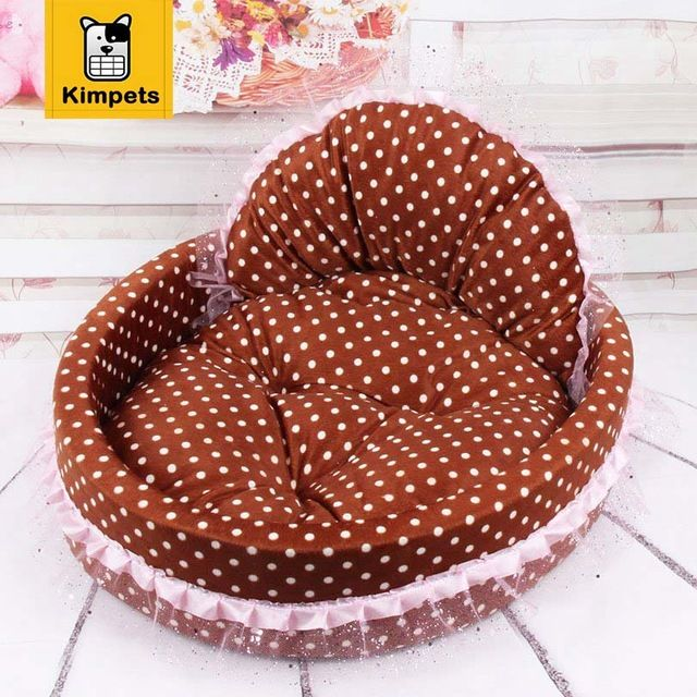 KIMHOME brand Circular Dog House Lace Princess Puppy House Nest Kennel Cat Beds Luxury Sofa