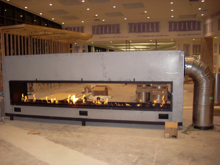 Custom See Through Gas Fireplace The Flue Is Our