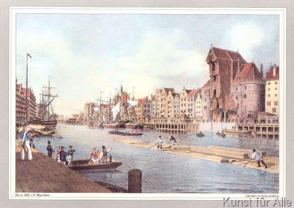 Eduard+Meyerheim+-+Das+Krantthor+mit+der+Langen+Brücke+zu+Danzig