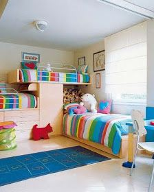 Colorful Bedroom For Three Children Colorful Kids Bunk Bed Furniture Bedroom Set For 3 Architecture Design Ideas