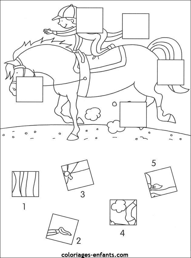 Werkblad visueel waarnemen: paard