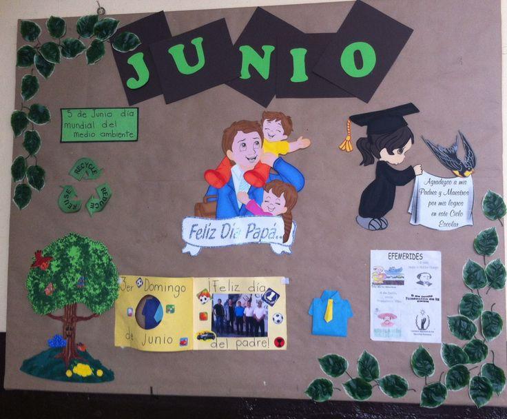 Junio día del padre periodico mural escolar