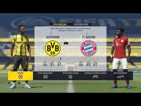 Fifa 17 Ps4 Borussia Dortmund Vs Bayern München 100 Gameplay Let