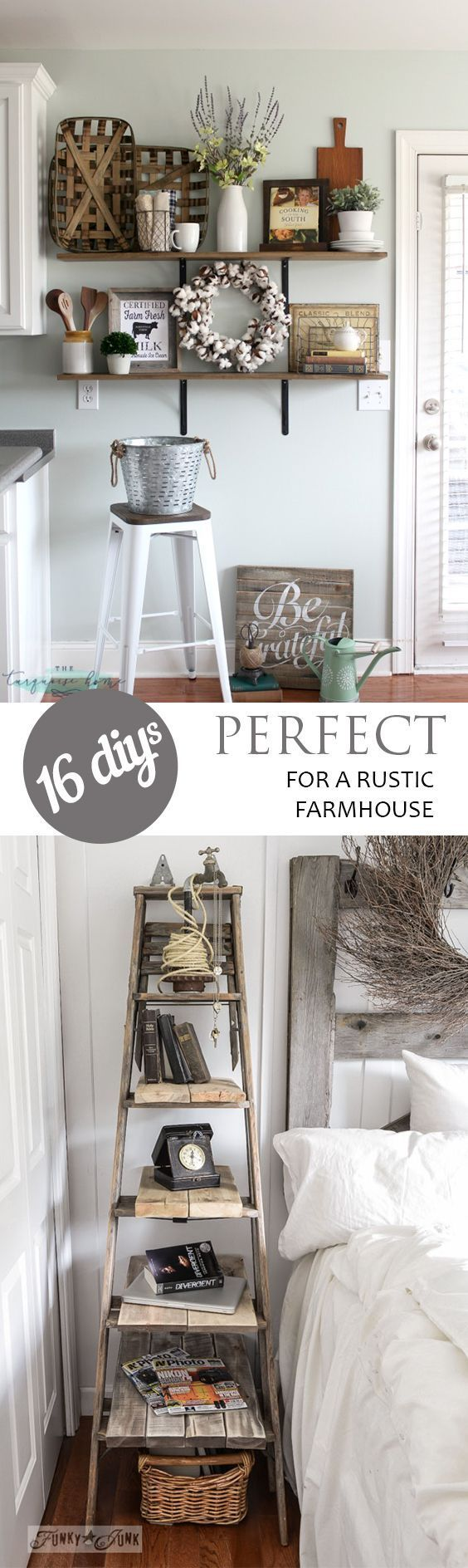 16 DIYu0027s Perfect For A Rustic Farmhouse   DIY Rustic Farmhouse Decor, DIY  Home Decor