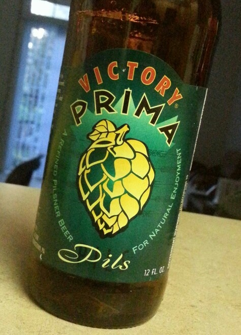 Victory - Prima pils, a nice an bitter pilsner. It's actually interesting to feel hops in this type of beer