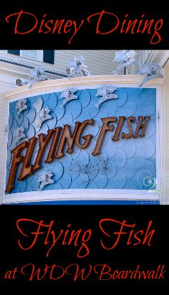 Flying Fish at Walt Disney World's Boardwalk is a Table Service restaurant featuring a Signature Dining experience. If you decide to use the Disney Dining Plan here, it will cost 2 Table Service credits per diner.