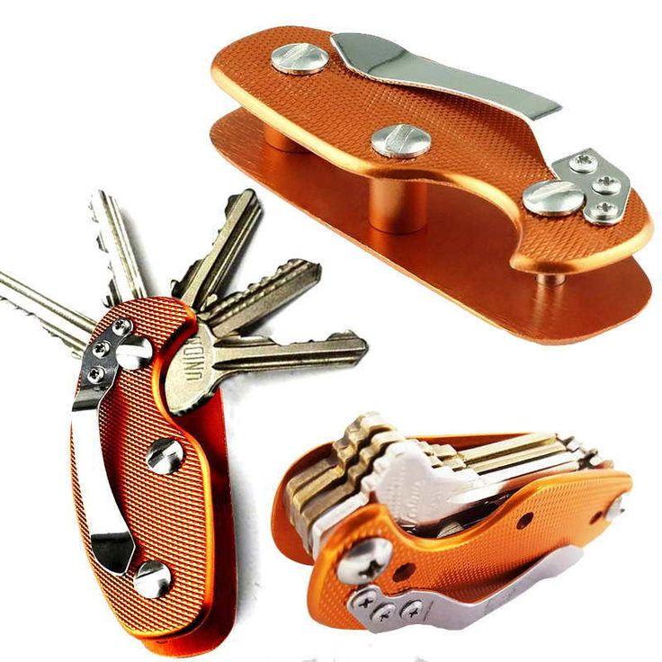 EDC Lightweight Folding Keys Organizer Holder Pocket Aluminum Key Holdear Key Bar