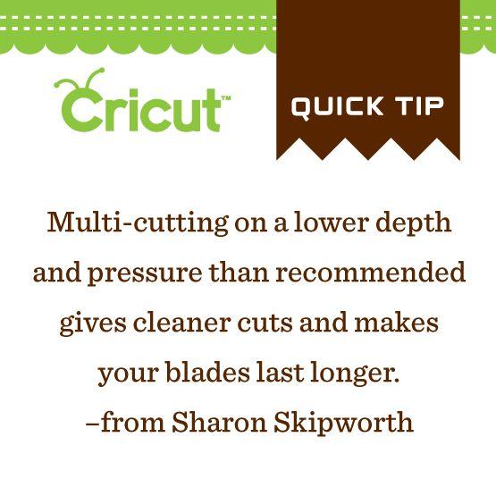 Make those Cricut blades last longer!  ++++++