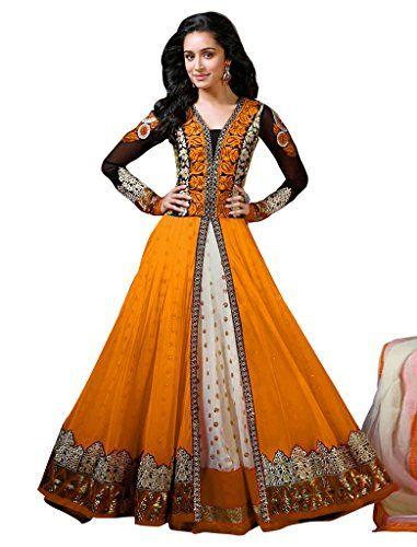 Top :- Gelorgette Semi Stitched Georgette & Net Anarkali Salwar Suit - Dress Material
