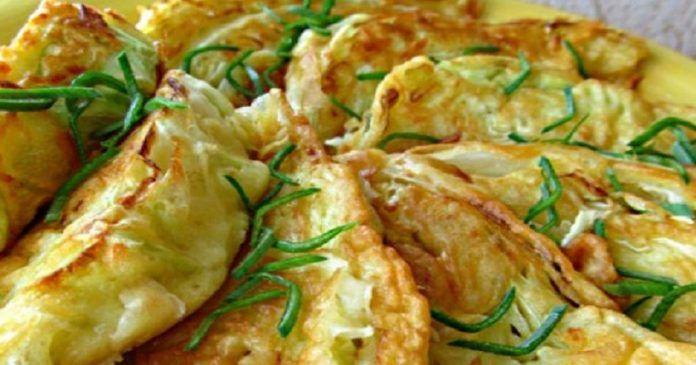 Капустные листья с сырной начинкой