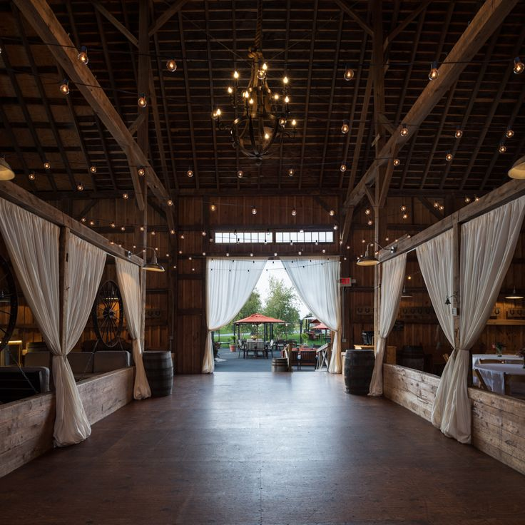 A beautiful shot of the inside of our barn, looking out ...