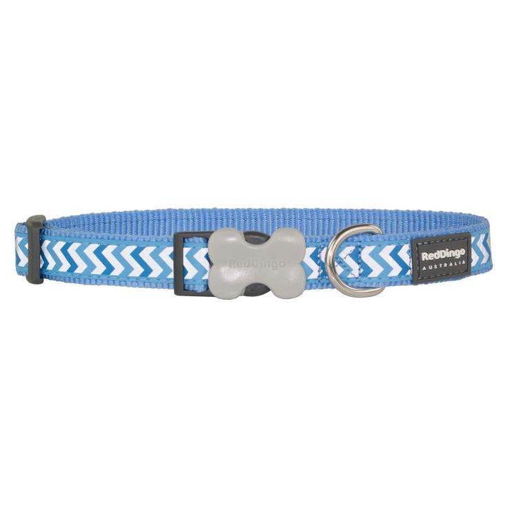 Red+Dingo+Reflective+Ziggy+Medium+Blue+Medium+Dog+Collar