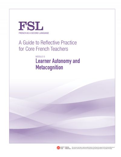 A Guide to Reflective Practice for Core French Teachers - FSL. Bon ressource