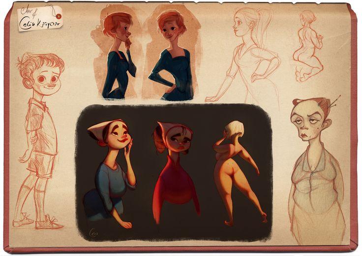 Character Design Pinup Art : Mixed bag art of celia kaspar chara design pinterest