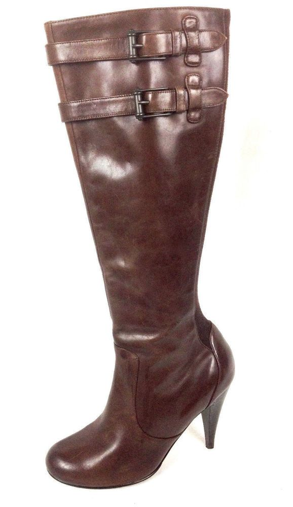 Cole Haan Shoes Womens Brown Leather Boots Nike Air 6.5 #ColeHaan #KneeHighBoots #WeartoWork