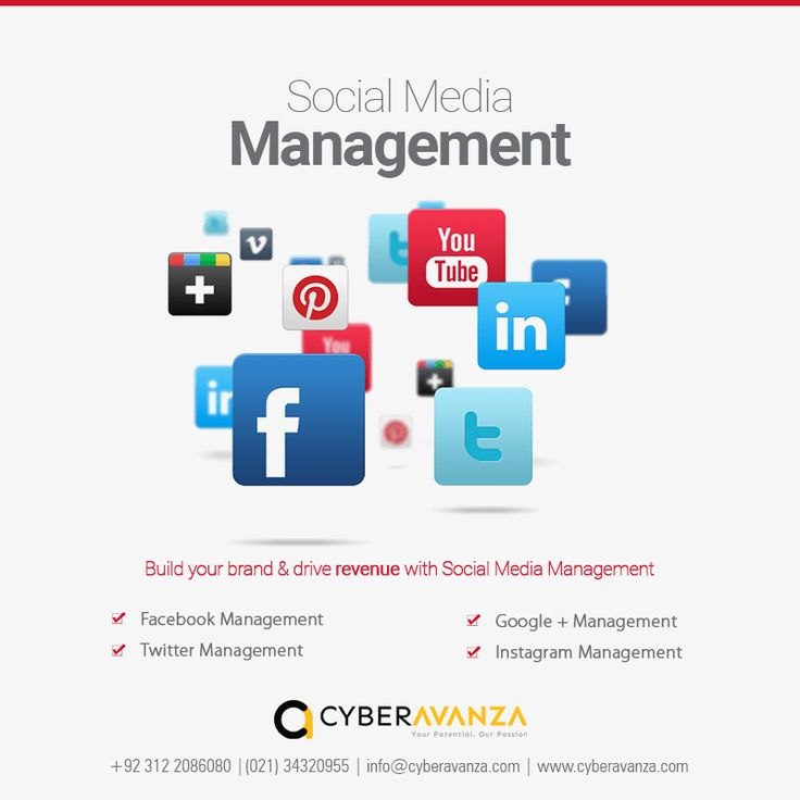 Are you looking for someone to manage your Social Media pages?  Cyber Avanza offers high quality services in Social media marketing including, #Facebook, #Twitter, #Linkedin, #GooglePlus, #Pinterest, #youtube, #Instagram and #Tumbler.  #socialmedia #twitter #facebook #marketing #media #business #online #twitter #agaency #expert #page  Do contact us now !!! Call : +92 21 34320955  Whatsapp : +92 312 2086080 Email : info@cyberavanza.com Just Visit: https://goo.gl/sQzXaC