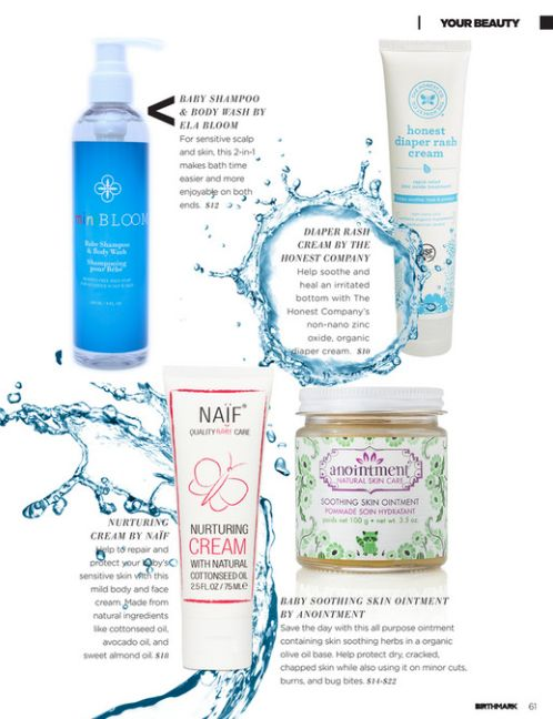 """Anointment Baby Soothing Skin Ointment featured in the May 2016 issue of Birthmark Magazine as a """"Must Have"""" for your medicine cabinet."""
