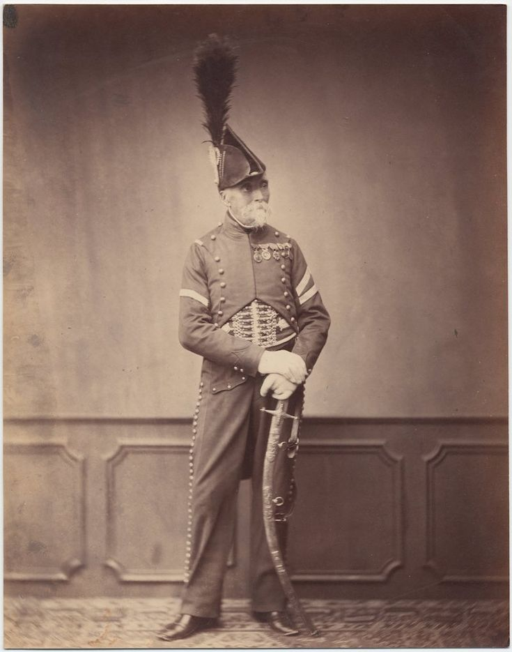 Monsieur Dupont, Fourier for the 1st Hussar // c. 1858: Photos of Veterans of the Napoleonic Wars
