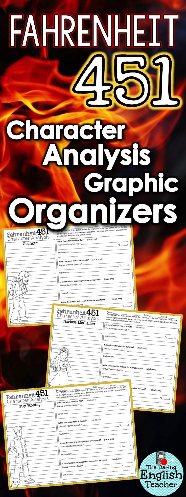 best teaching fahrenheit images fahrenheit fahrenheit 451 character analysis graphic organizers