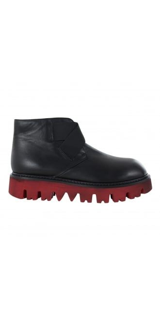 Rundholz Black Label Black Leather Red Sole Boot