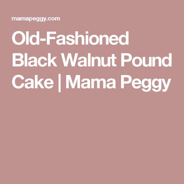 Best Black Walnut Pound Cake Recipe