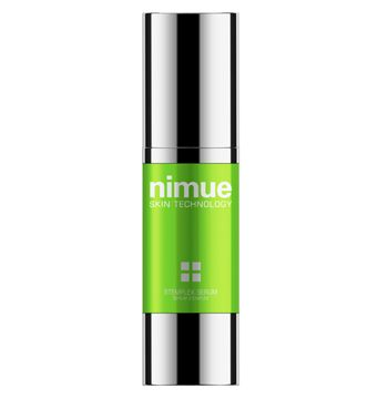 Stemplex Serum. A fusion of derma cosmeceutical skin rejuvenation actives with plant stem cells and resveratrol for the prevention and treatment of genetic ageing, in addition to the treatment of environmental damage. Plant stem cells protect human skin stem cells from stress, thus decreasing wrinkle formation and producing younger, fresher looking skin. 30ml. Nimue Skin Technology.