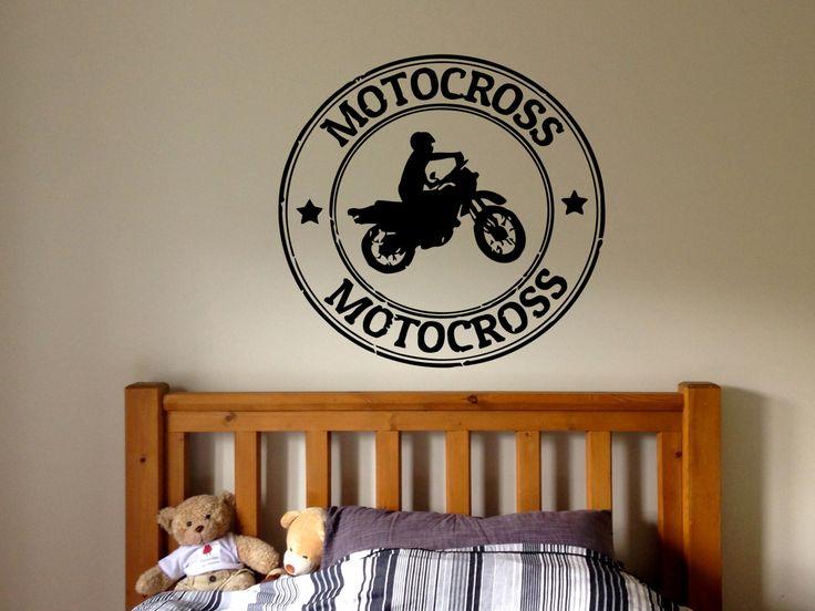Attractive Wall Vinyl Sticker Decals Mural Room Design Bedroom Motocross Stamp Dirt  Bike Motorcycle Nursery Bo2847 By
