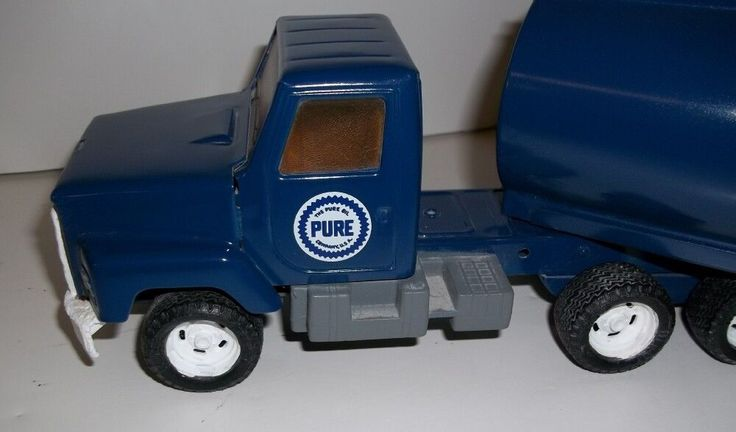 VINTAGE ERTL Pure Oil TANKER Tractor Trailer 1/25 SCALE Approx 19 inches long #ERTL #TractorTanker