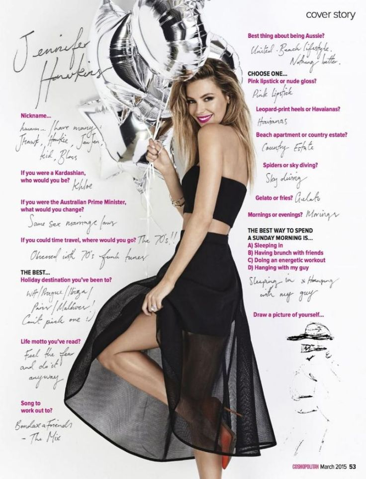 Jennifer Hawkins - Cosmopolitan Magazine Australia : Global Celebrtities (F) FunFunky.com