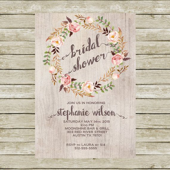 Best 25 Rustic bridal shower invitations ideas – Rustic Wedding Shower Invitations