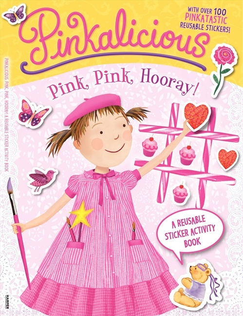 Enter to win one of 5 copies of Pinkalicious: Pink, Pink, Hooray!: A Reusable Sticker Activity Book, available today!  Tell us your favorite pink thing today in the comments below to be entered. For an extra entry, repin this post. We will announce the winners on July 26! Good luckalicious! For more information about Purpledoodles visit:   http://www.harpercollinschildrens.com/books/Pinkalicious-Pink-Hooray-Reusable-Sticker-Activity-Book-Victoria-Kann/?isbn13=9780062187987=110