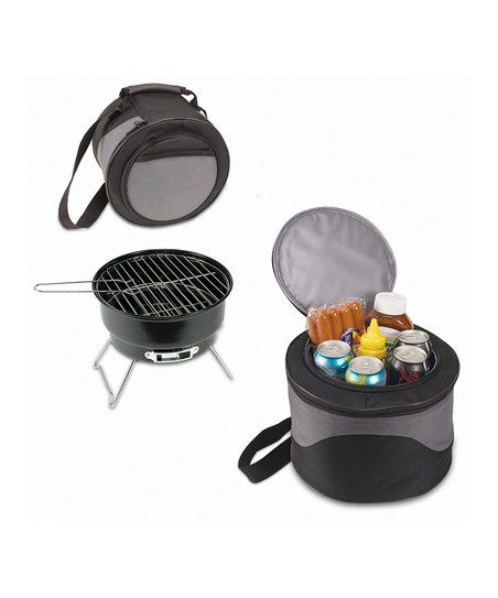 Black & Gray Caliente Portable Charcoal Grill & Carrying Tote