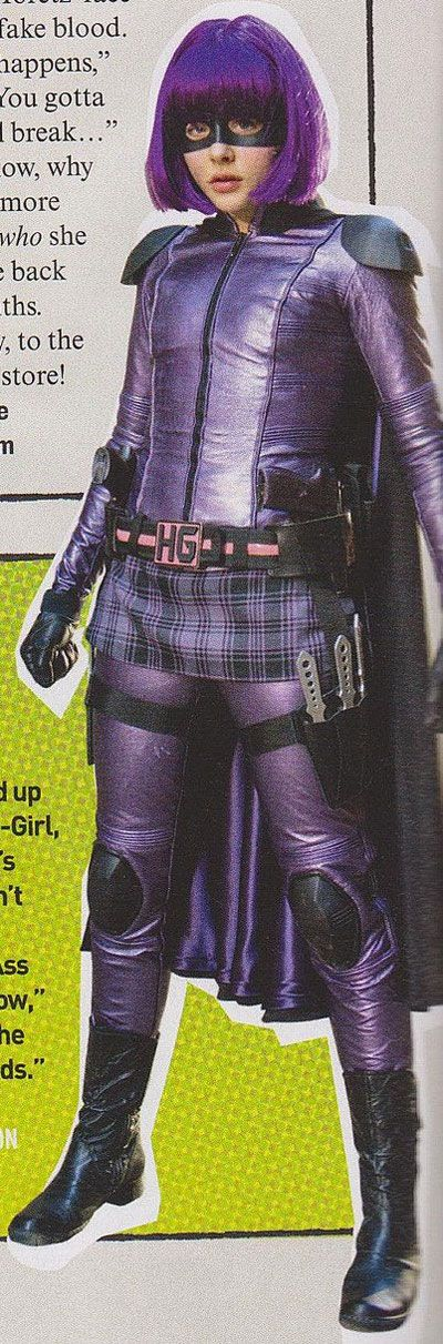 Kick-Ass 2 -- Hit Girl Cosplay Boots Version 01