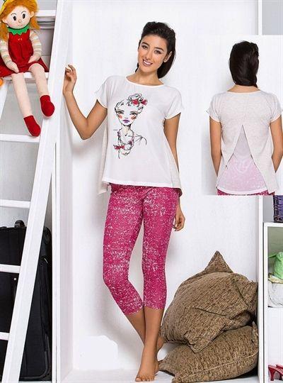 Tuğse, Sırtı Şifon T-shirt ve #Tayt Takım 2518