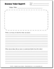 Science Video Report and other science resources from Laura Candler - use this report form to make sure students are watching your science videos and are actually paying attention!Science Printables, Generic Science, Free Science, Science Labs, Science Activities, Science Videos, Science Resources, Science Kids Videos, Science Site