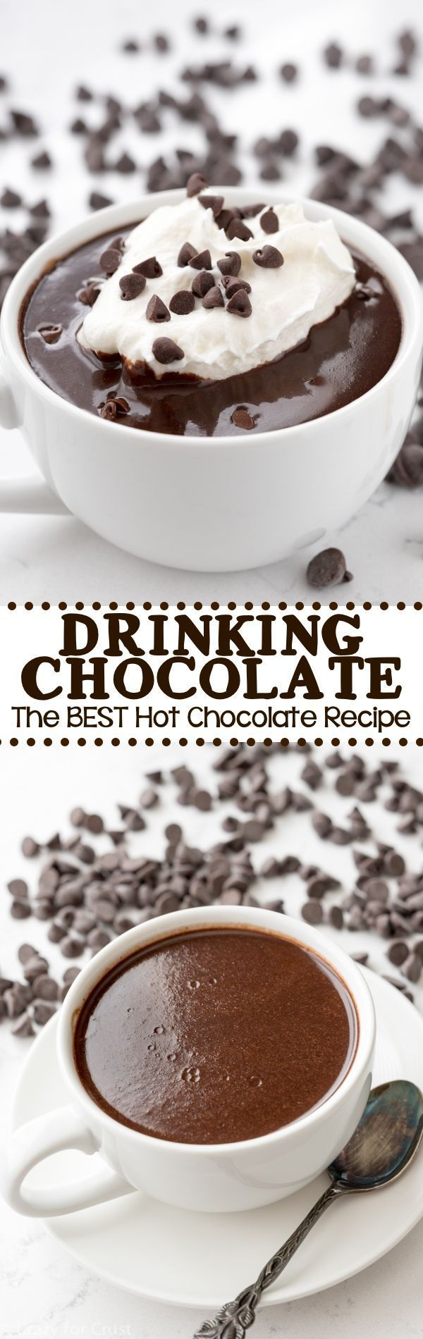Drinking Chocolate - an easy hot chocolate recipe that tastes like you're drinking liquid ganache!