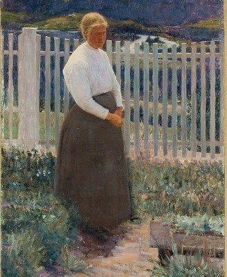 Prins Eugen - Valdreskvinna (Mathea Rønningen) 1889