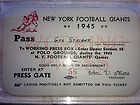 RARE 1945 New York Giants Football Ticket Polo Grounds John Mara No Ladies - http://oddauctions.net/sports-memorabilia/rare-1945-new-york-giants-football-ticket-polo-grounds-john-mara-no-ladies/