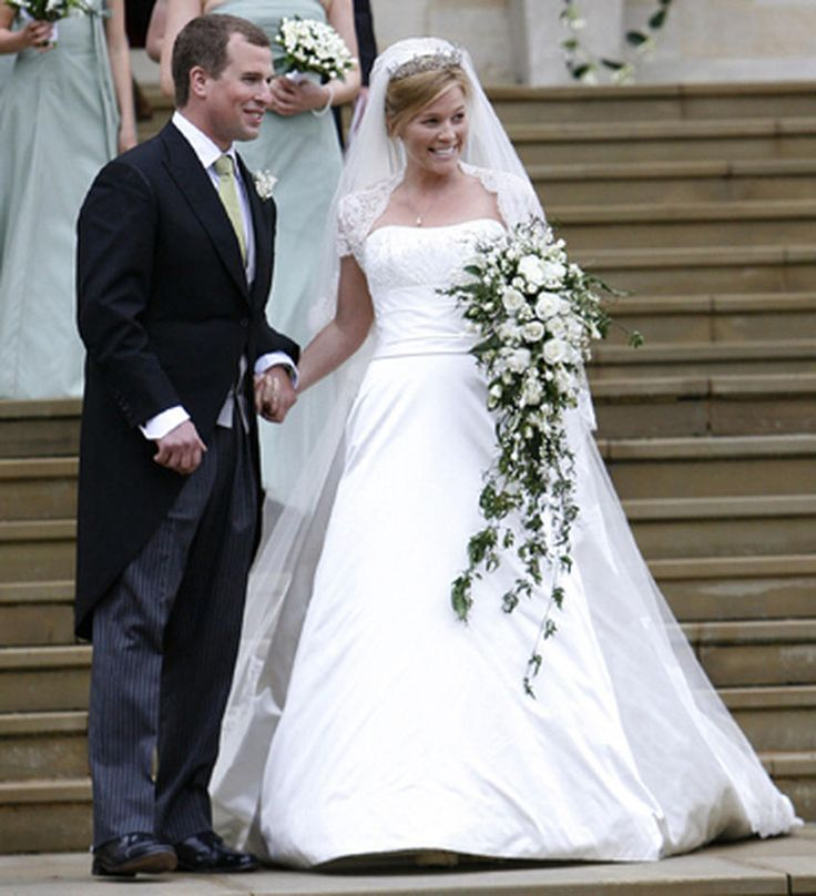 Autumn Phillips is married to Princess Anne's son, Peter Phillips. ~ Peter Phillips with his bride, Autumn Kelly, in Windsor, England, May 17, 2008.