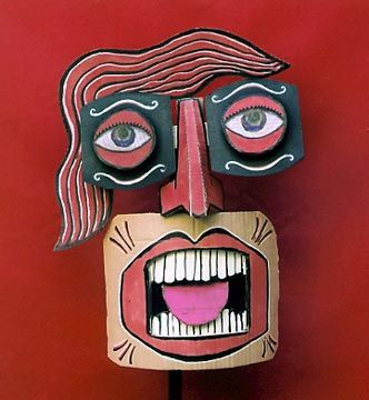 cardboard mask | would be fun to have groups create individual parts if the face and bring it all together for a giant puppet/mask