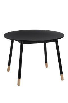 Jotex Svart KINNA matbord ø 100 cm