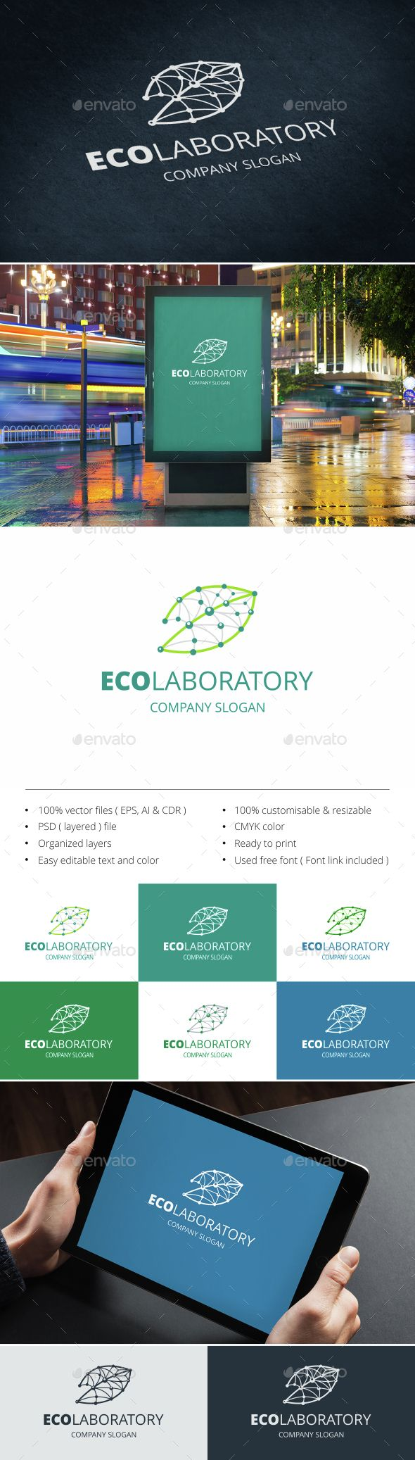 Eco Laboratory Logo Template PSD, Vector EPS, AI Illustrator, CorelDRAW CDR #logotype Download here: http://graphicriver.net/item/eco-laboratory-logo/15198859?ref=ksioks
