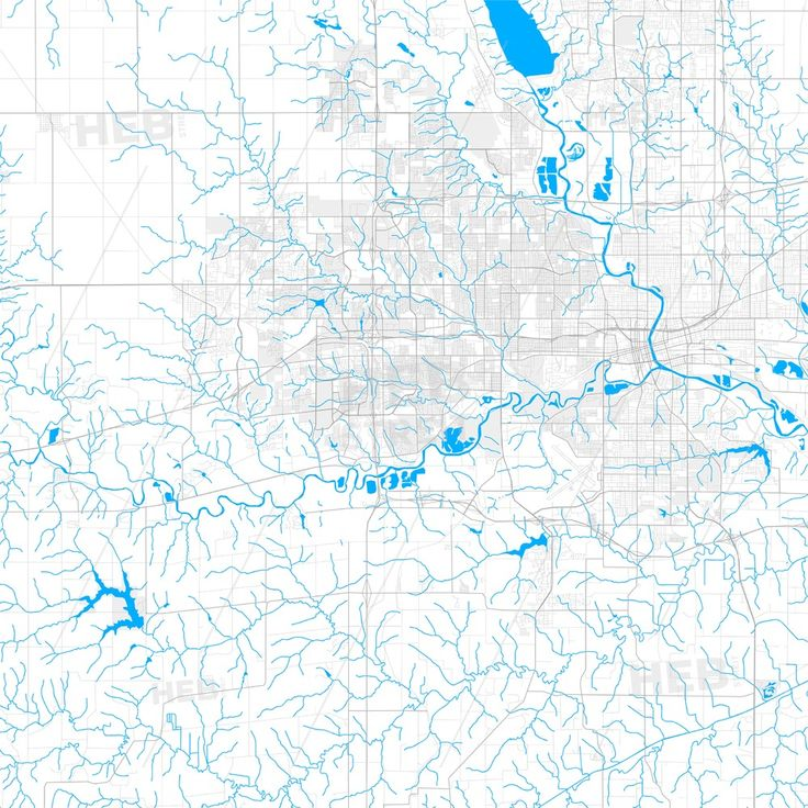 Rich Detailed Vector Map Of West Des Moines Iowa Usa