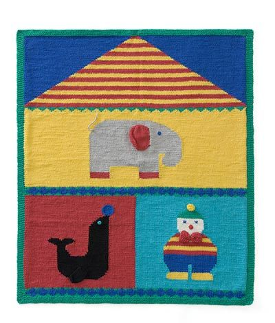 Knitted Circus Afghan