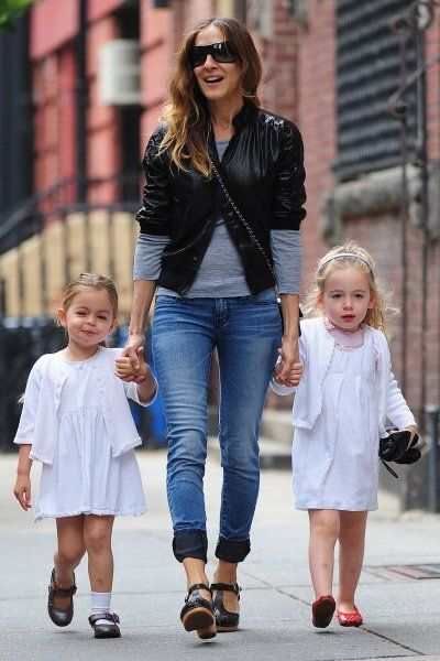 Celeb: Sarah Jessica Parker, Tabitha Hodge Broderick and Marion Loretta Elwell Broderick are seen in the West Village on May 29, 2013 in New York City.