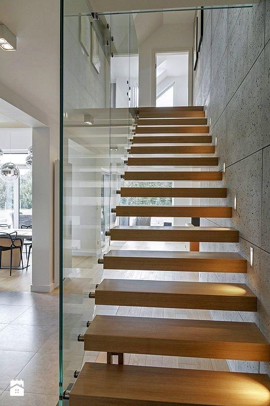 Schody styl Minimalistyczny - zdjęcie od DOMY Z WIZJĄ - nowoczesne projekty domów - Schody - Styl Minimalistyczny - DOMY Z WIZJĄ - nowoczesne projekty domów