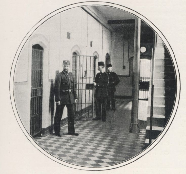 By the late nineteenth century, Holloway Prison was a 'trial' prison for men suspected of having committed a criminal offence. It also held convicted female prisoners and women awaiting trial. As a result, the male and female sections of the prison were very different. For the men, there was no hard labour and they wore their own clothes, not prison uniforms.